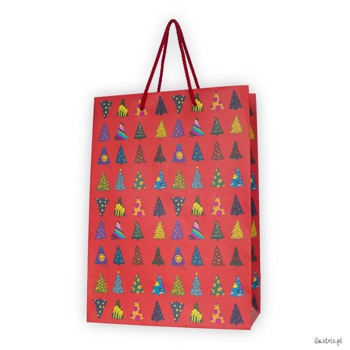 Weihnachtliche Geschenkverpackung Tasche